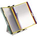 tafelstandaard + 10 zichtpanelen A4, diverse kleuren