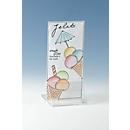Tafelstandaard, glashelder acryl