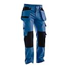 Tailleband broek Jobman 2312 PRACTICAL, met kniezakken & holsterzakken, blauw I zwart, maat 42