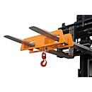 Takel LH 2, 1500 kg draagvermogen, oranje gelakt