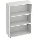 TARA boekenkast, 3 OH, stapelbaar, B. 800 x D 330 x H 1144 mm, lichtgrijs
