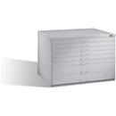 Tekeningkast van staal, voor formaten tot A1, 8 schuifladen