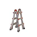 Telescopische ladder, max. ladderhoogte 3,02 m, 4 x 3 sporten