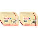 TESA Haftnotizen Office Notes, 50 mm x 75 mm, 4 x 3 x 100 Blatt, gelb