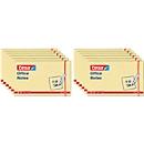 TESA post-its Office Notes, 125 mm x 75 mm, 4 x 3 x 100 vellen, geel