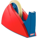 tesa prof- tafelafroller, rood/blauw, voor rollen van 66 m x 25 mm