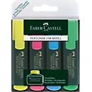 Textliner Faber-Castell, 4-er Etui, gelb, blau, rosa, grün