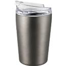 Thermobecher Metmaxx® CremaExpresso, 200 ml, auslaufsicher, Werbefläche 42 x 40 mm, titanfarben
