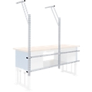 Tischaufbau, für Werkbank multi4power, B 1000 x H 380 mm, Systemlochung, für bis zu 3 Euroboxen