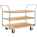 Tischwagen mit 3 Etagen, 1000 x 700 mm