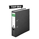 Top deal: Standaard ordners, A4, rugbreedte 80 mm, kwaliteits-hefmechanisme, greepgat, zwart, 20 stuks