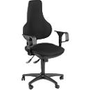 Topstar bureaustoel ERGO POINT, synchroonmechanisme, zonder armleuningen, speciale ergonomisch gevormde wervelsteun, zwart