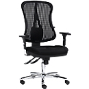 Topstar bureaustoel HEAD POINT, synchroonmechanisme, zonder armleuningen, hoge rugleuning met 3D-gaas, kuipzitting