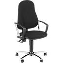 Topstar bureaustoel POINT 60, permanent contactmechanisme, met armleuningen, lendenwervelsteun, kuipzitting, zwart