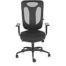 Topstar bureaustoel PRO NET 100, synchroonmechanisme, zonder armleuningen, nieuwe hightech gaas leuning, zwart/zwart