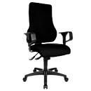 Topstar bureaustoel TOP POINT, synchroonmechanisme, zonder armleuningen, hoge ergonomische rugleuning, zwart