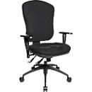 Topstar bureaustoel WELLNESS 300, synchroonmechanisme, zonder armleuningen, hoge rugleuning, kuipzitting