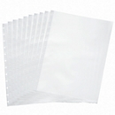 Transparant hoesje FolderSys, A4, bovenaan open, T-gestanst voor 12 ringen, transparant, 10 stuks