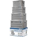 Transportcontainer SET, aluminium, 4-delig