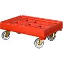 Transportroller für Behälter 600 x 400 mm, rot