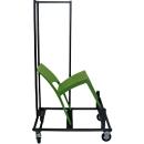 Transportwagen voor stapelstoel SOL, voor maximaal 20 stuks, met zwenk- en bokwielen