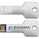 USB-Stick Alu-Key, 4 GB inkl. einfarbige Werbeanbringung, silber