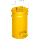 Veiligheidsemmer met deksel, geel