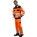 Veiligheidskleding-broek met tailleband, oranje/blauw, m.44