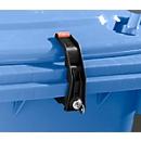 Vergrendeling voor afvalcontainers, verschillend sluitend