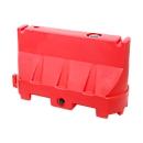 Verkeersbarriers, UV-bestendig polyethyleen, temperatuurbestendig, flexibele vormgeving, rood