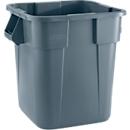 Vierkant afvalbak Brute Rubbermaid, 105 liter, 550 mm, grijs