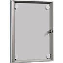 Vlak informatiebord, acrylglazen deur zonder frame, voor 1 x A4, incl. 4 magneten
