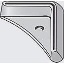 voetplaten, L-vormig, kunststof, grijs