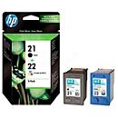 Voordeelpakket 2 x HP inktpatronen Nr. 21/22 zwart, color (SD367AE)