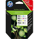 Voordeelpakket 4 stuks HP inktpatroon Nr. 950/951 zwart, color (C2P43AE)