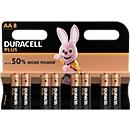 Voordeelset DURACELL® batterij Plus Power, Mignon AA, 1,5 V, 8 stuks