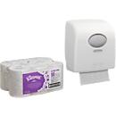 Voordeelset Kleenex rollen handdoekpapier Ultra Airflex, 12 st. + gratis dispenser handdoekpapier