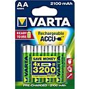 Voordeelset VARTA oplaadbare batterijen Power Play Longlife, Mignon AA, 4 stuks