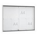 Wandbord met schuifdeur, 920 x 674 mm