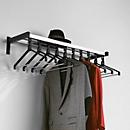 Wandgarderobe, 10 Kleiderbügel, Hutablage