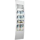 Wandprospekthalter, B 310 x T 100 x  H1020 mm, für alle Formate, weißaluminium, Metall