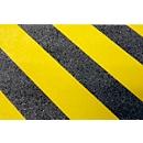 Warnmarkierung, für den Außenbereich, 25 mm x 25 m, 1 Rolle, schwarz/gelb