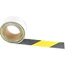 Warnmarkierung, für den Außenbereich, 50 mm x 6 m, 1 Rolle, schwarz/gelb