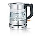 Waterkoker WK 3468, draadloos, 1 l, 2200 W, uitneembaar kalkfilter, glas/rvs