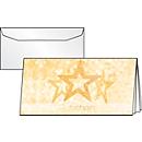 Weihnachts-Gutschein-Karte Precious Stars, Goldprägung, DIN lang, m. Umschlag, 10 St.