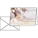Weihnachtskarten Christmas Feeling, DIN A6, Glanzkarton, inkl. Umschlag, 25 Stück