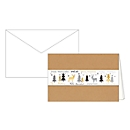 Weihnachtskarten Korsch, 170 x 115 mm, weiße Banderole, Einlagen & Umschläge, naturbraun, 10 Stück