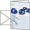 Weihnachtskarten Sigel Seasons Greetings, A6, 220 g/m², Glanzkarton mit Weihnachtskugelmotiv, inkl. Umschläge, 25 Stück