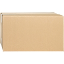 Wellpapp-Faltkartons, 1-wellig, 350 x 250 x 200 mm, braun