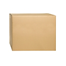 Wellpapp-Faltkartons, 2-wellig, 600 x 500 x 500 mm, braun